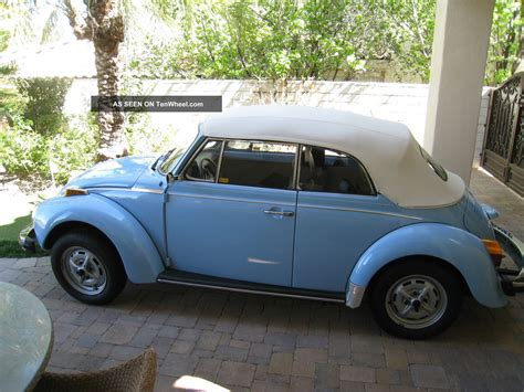 vw volkswagen beetle convertible  mile survivor