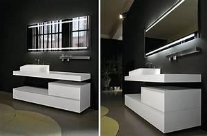miroir salle de bain lumineux et eclairage indirect en 50 With meuble salle de bain haut de gamme