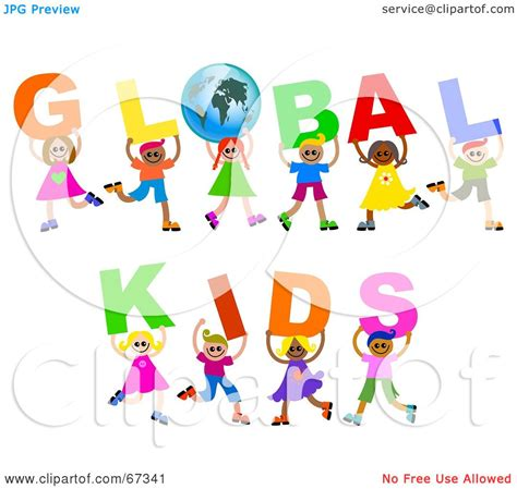 Royalty-Free (RF) Clipart Illustration of Children ...