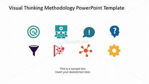 Visual Thinking Methodology Clipart Summary Slide