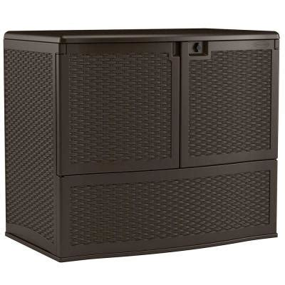 suncast 195 gallon vertical deck box suncast 195 gal backyard oasis vertical deck box