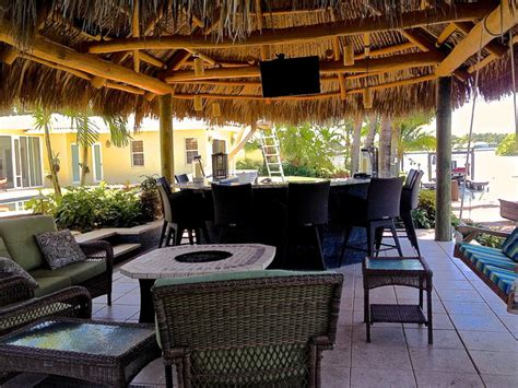 Tiki Bar Kitchen by Tiki Hut Outdoor Kitchen And Landscaping Tropical