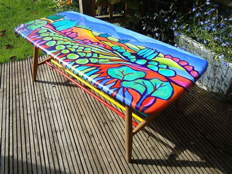hand painted coffee table   lady loves  paint