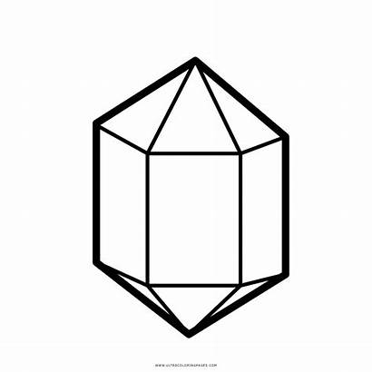 Crystal Coloring Clipart Transparent Mineral Shape Icon