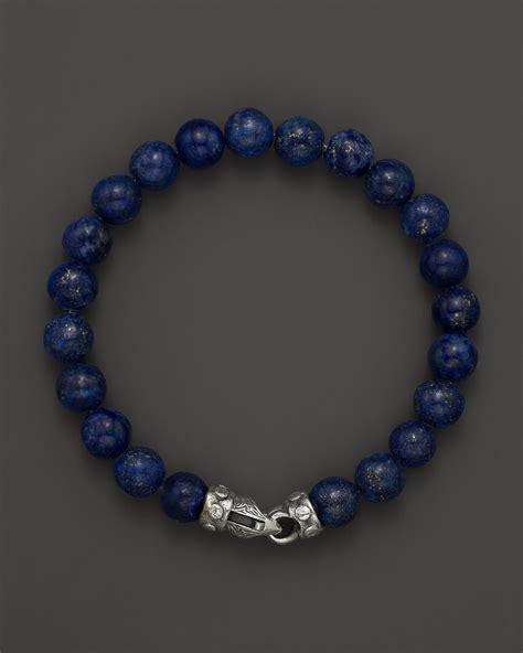 lyst scott kay mens lapis bead bracelet  riveted