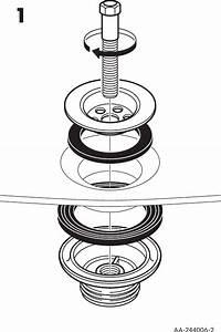 Ikea Orrevik Sink Strainer Assembly Instruction