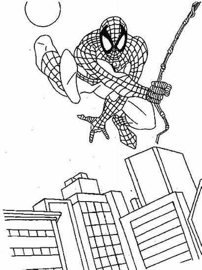 Coloring Marvel Pages Captain Comics Spiderman Colors