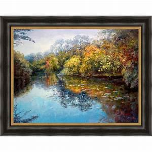 Autumn, Pond, Framed, Wall, Art