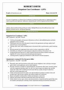 Lpn Resume Template Patient Care Coordinator Resume Samples Qwikresume