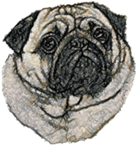 Advanced Embroidery Designs   Pug Set