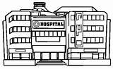 Hospital Coloring Template Coloringpagesfortoddlers Building Disimpan Dari Cartoon sketch template