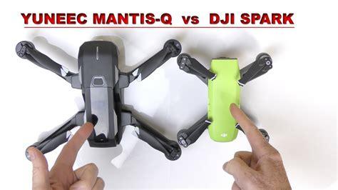 yuneec mantis   dji spark  drone    youtube