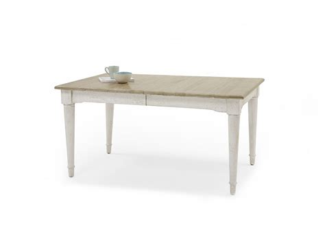 Extendable White Dining Table