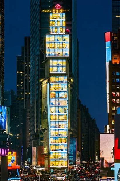 Square Samsung Led Times York Nyc Signage