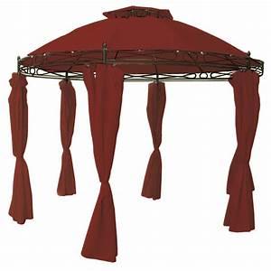 Pavillon Mit Seitenteilen : garten pavillon mit seitenteilen rund rot 350cm garten sonstiges ~ Buech-reservation.com Haus und Dekorationen