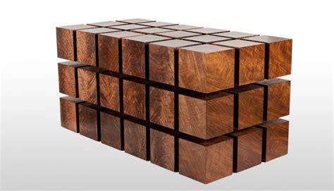 Cube En Bois Une Table En Cubes De Bois Magn 233 Tiques