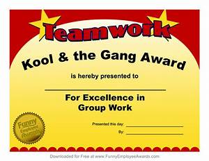 Free Certificate Template Fun Employee Award Certificates Just B CAUSE