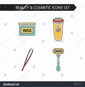 Vector Modern Stylish Thin Line Cosmetics Stock Vector