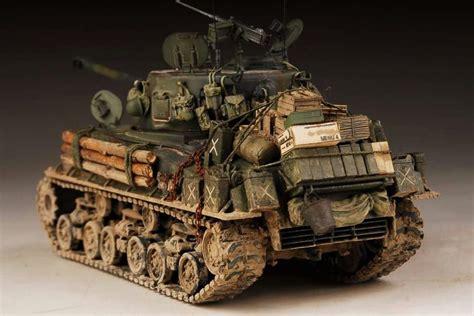 mae sherman easy  fury  tank diorama