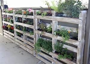 Recyclage Palette : recycler une palette en jardini re pour le jardin ~ Melissatoandfro.com Idées de Décoration