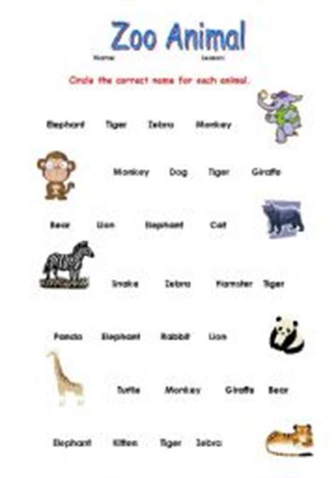 english teaching worksheets   zoo