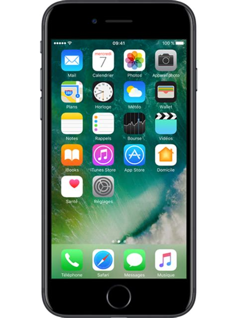 iphone 7 0 apple iphone 7 128go noir sfr