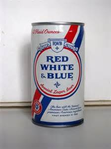 Red White and Blue Beer Can