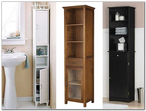 Narrow Tall Cabinet For Bathroom-cabinet