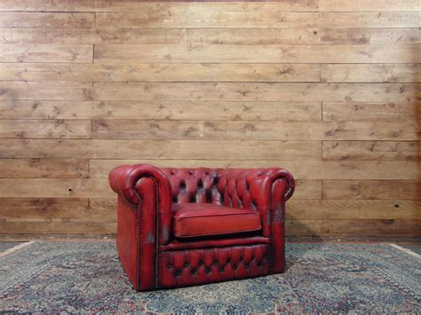 Poltrona Chesterfield Club Originale Inglese In Vera Pelle