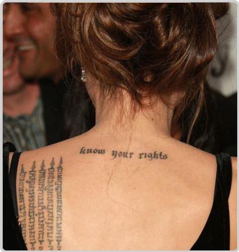 Angelina Jolie Tattoos  Fashion And Styles