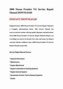 2000 Nissan Frontier Vg Service Repair Manual Download By Fjhsgebfhn
