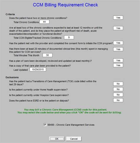 Chronic Care Management Plan Template
