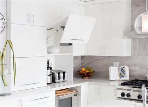 kitchen  garage door small appliances cabinet