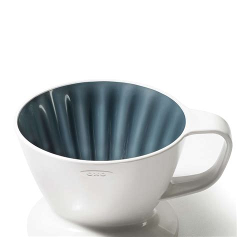 Pour over coffee is different—the water's constantly draining. Pour-Over Coffee Dripper with Water Tank OXO Good Grips 12oz 355ml - Espresso Planet Canada
