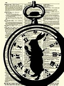 Information About Alice In Wonderland Pocket Watch Drawing