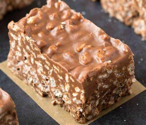 recette facile de barres crunchies au chocolat  beurre