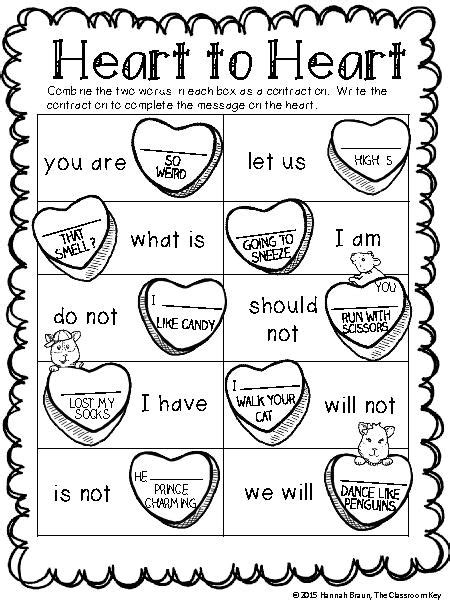 15 best images of for second grade contraction worksheets