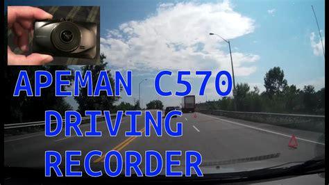 apeman dash apeman c570 dash hd 1080p car recorder with 3 inch lcd screen