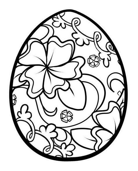 unique spring easter holiday adult coloring pages