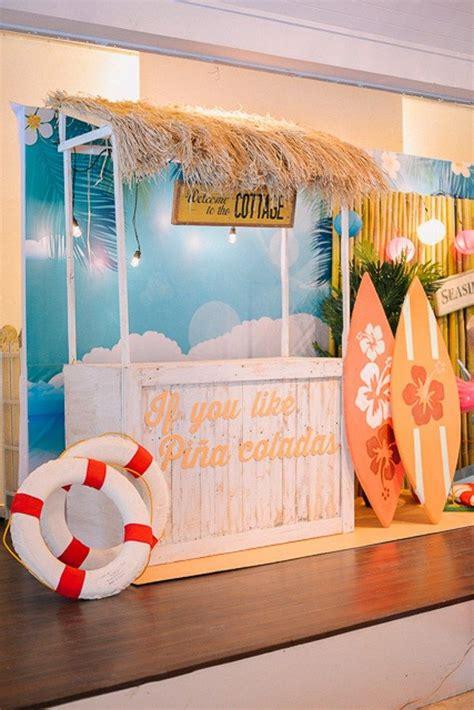 beach party decor ideas  pinterest summer
