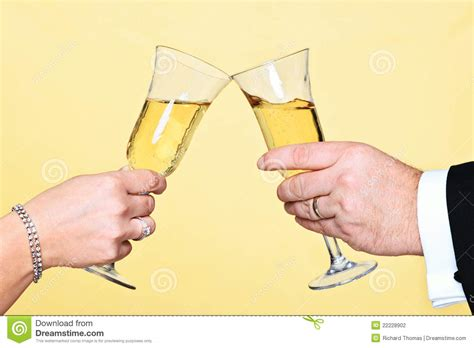 Champagne Toast Stock Photography