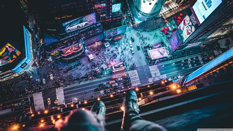 Top Of Skyscraper Selfie 4k Hd Desktop Wallpaper For 4k