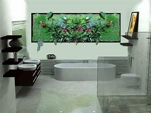 Tableau Végétal Mural : tableau vegetal salle de bain solutions pour la ~ Premium-room.com Idées de Décoration