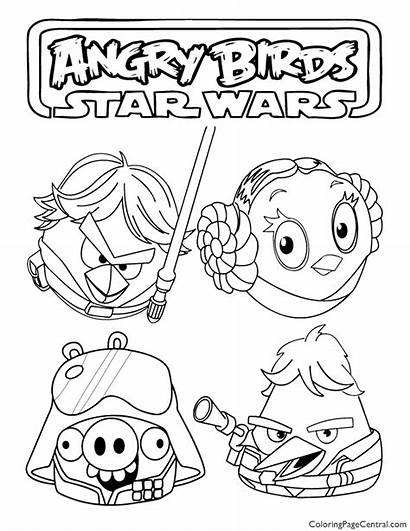 Coloring Wars Star Angry Birds Pages Sheets