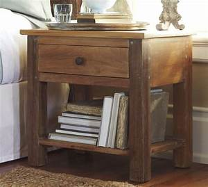 alden reclaimed wood bedside table pottery barn With barnwood bedside table