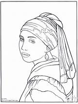 Painter Vermeer Coloring Pages Advertisement sketch template