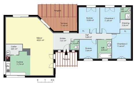plan de maison à étage 4 chambres plan de maison 4 chambres avec etage 16 plan de maison