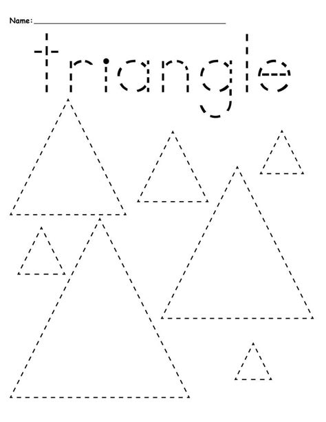 preschool tracing worksheets best coloring pages for 103   Triangles Preschool Tracing Worksheets