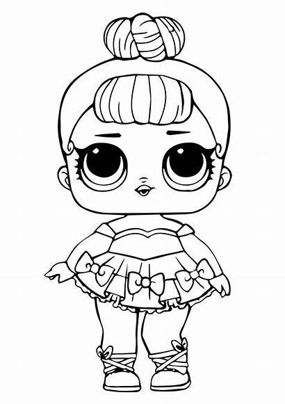 Lol Coloring Doll Dolls Pages Surprise Glitter