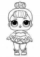 Lol Coloring Doll Dolls Pages Surprise Glitter Miss Printable Unicorn sketch template